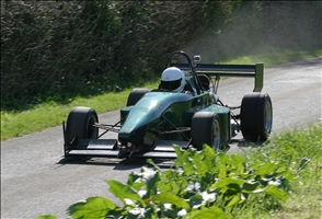 Andrew Forsyth (shown here at the Gurston test day) took the first outright win for his new OMS