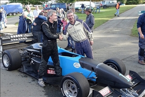 Titile rivals Will Hall and Trevor Willis congratulate each other after a hard fought year (Steve Wilkinson)