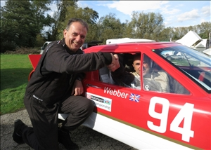 Geoff Stallard and Andrew Webber (in car) - already confirmed as the Championship one/two (Chris Bennett)